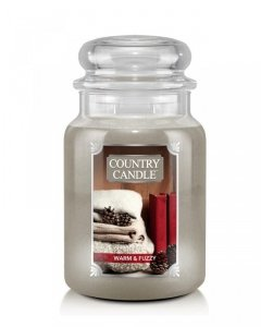 Country Candle - Warm and Fuzzy - Duży słoik (680g) 2 knoty