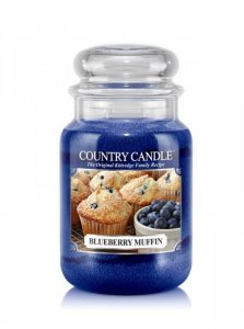Country Candle - Blueberry Muffin - Duży słoik (652g) 2 knoty