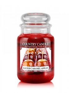 Country Candle - Salted Caramel Apples - Duży słoik (652g) 2 knoty