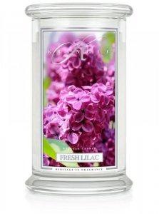 Kringle Candle - Fresh Lilac - duży, klasyczny słoik (623g) z 2 knotami