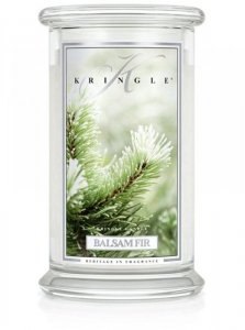 Kringle Candle - Balsam Fir - duży, klasyczny słoik (623g) z 2 knotami