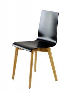 LUKA W krzesło drewniane czarne, dębowa rama