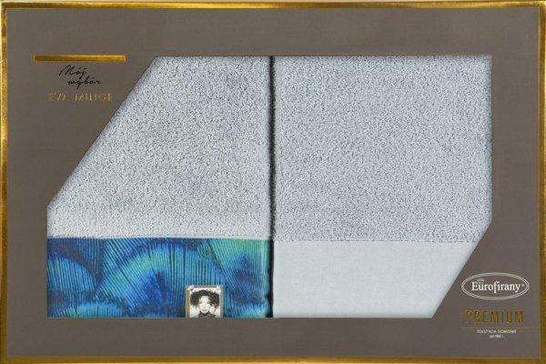 Eva Minge Komplet Ręczników CAMILA 70x140 Srebrny Eurofirany