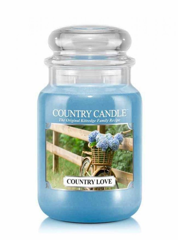 Country Candle - Country Love - Duży słoik (652g) 2 knoty
