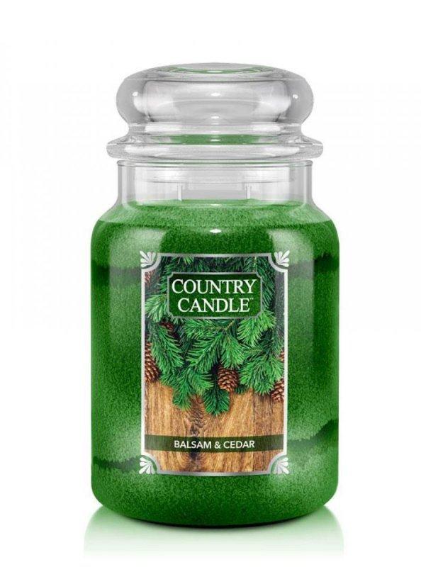 Country Candle - Balsam & Cedar - Duży słoik (652g) 2 knoty