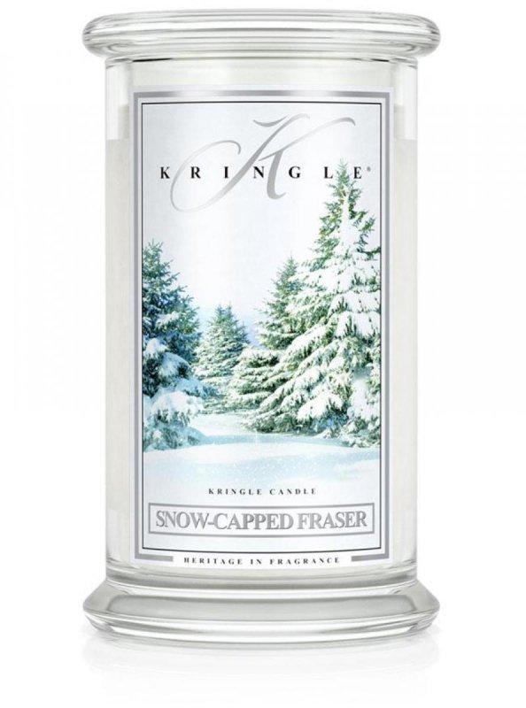 Kringle Candle - Snow Capped Fraser - duży, klasyczny słoik (623g) z 2 knotami