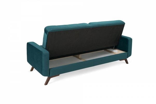 Sofa z funkcją spania 3F - FIORD - Butelkowa Zieleń