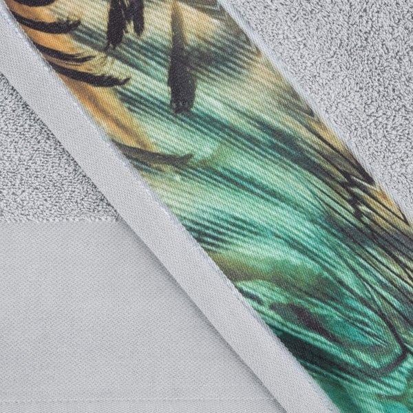 Eva Minge Komplet Ręczników COLLIN 70x140 Srebrny Eurofirany