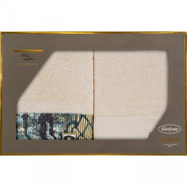 Eva Minge Komplet Ręczników CARLA 50x90 Beżowy Eurofirany