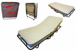 Łóżko składane polowe TOKIO 200x80 z regulacją zagłówka materac 10cm