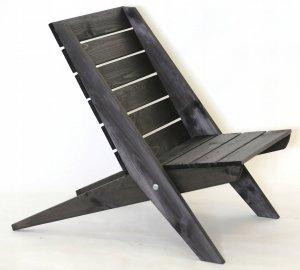 Leżak Fotel drewniany EcoFurn Granny Sosna Szary Olej