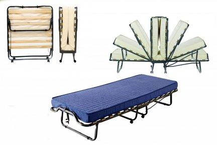 Łóżko składane Dostawka hotelowa LUXOR 200x90granat
