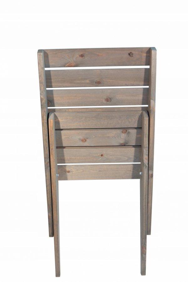 Fotel EcoFurn Granny sosna natural złożony