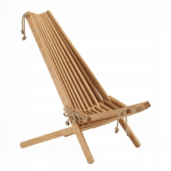 Leżak Fotel drewniany EcoFurn EcoChair Olcha Brązowy