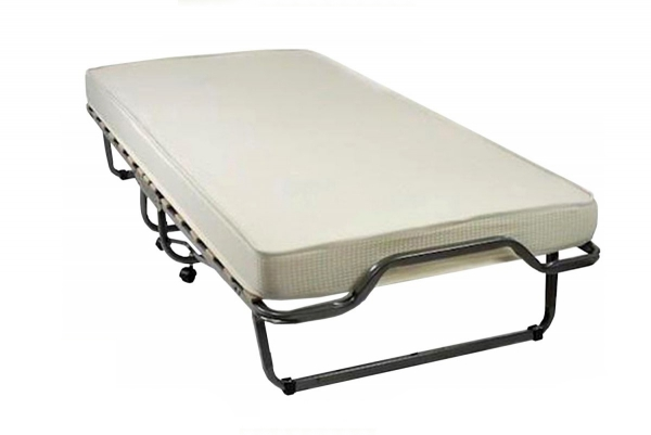 Do wynajęcia Wytrzymałe łóżko na kółkach 200 x 90 LUKSOR - ecru