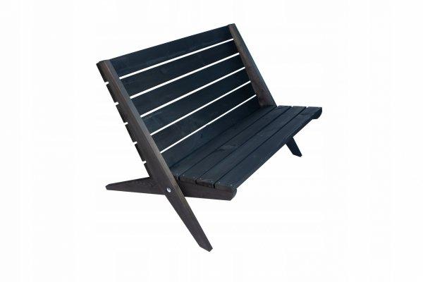 Leżak Fotel podwójny EcoFurn Granny Sosna Czarny Olej
