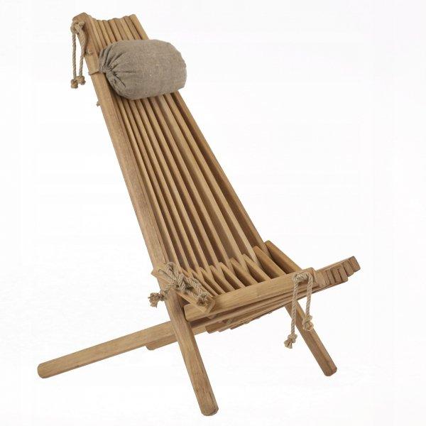 Leżak drewniany EcoFurn EcoChair Dąb Brązowy Olej