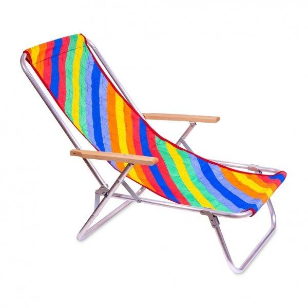 leżak plażowy magda tęczowa tkanina