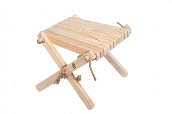 Stolik podnóżek drewn EcoFurn Lilly Olcha Natural