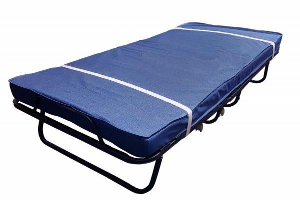 Łóżko składane polowe COMO PREMIUM z materacem 13cm z pokrowcem i pasami