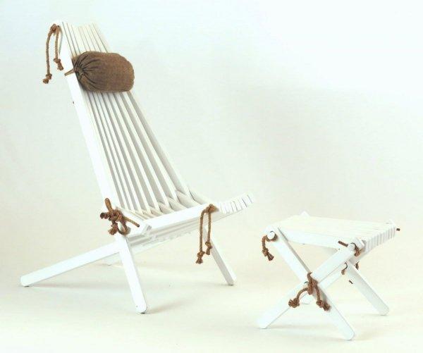 Stolik podnóżek drewniany EcoFurn Brzoza Biały