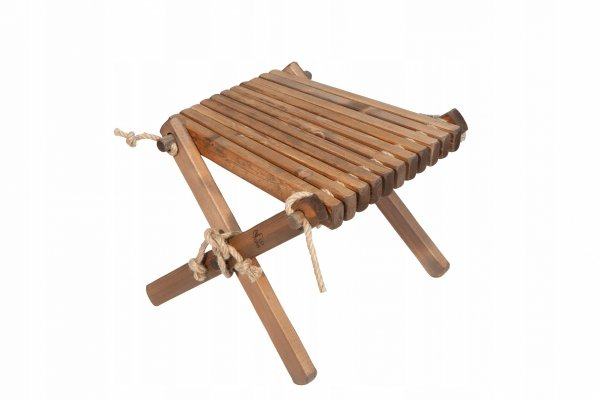 Stolik podnóżek drewniany EcoFurn Sosna Brązowy