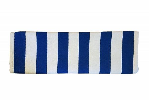 Tkanina do leżaka paskowego niebiesko-białe pasy