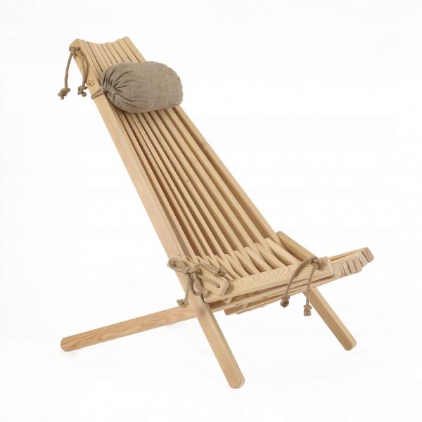 Leżak drewniany EcoFurn EcoChair Modrzew Brązowy