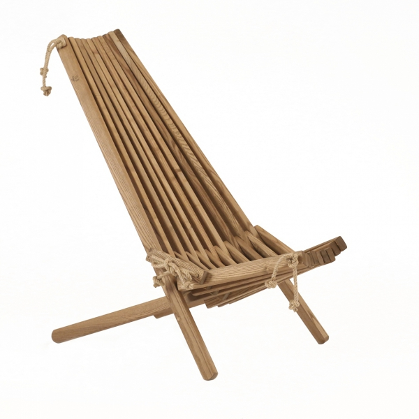 Leżak Fotel drewniany EcoFurn EcoChair Jesion Brązowy