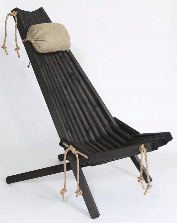 Leżak drewniany EcoFurn EcoChair Sosna Czarny olej
