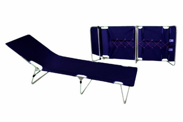 Łóżko polowe,  składane aluminiowe