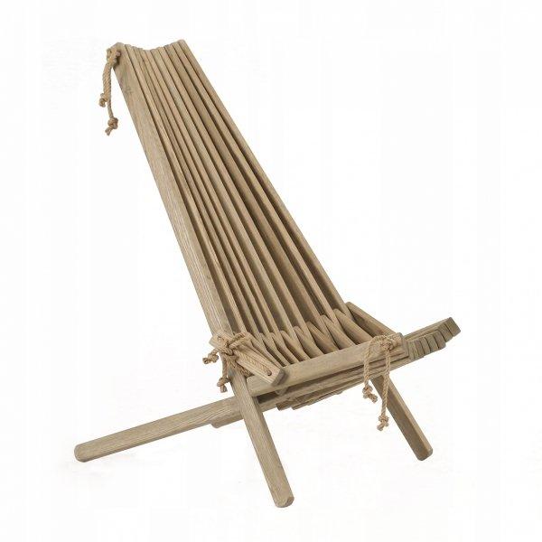 Fotel drewniany EcoFurn EcoChair Jesion Szary Olej