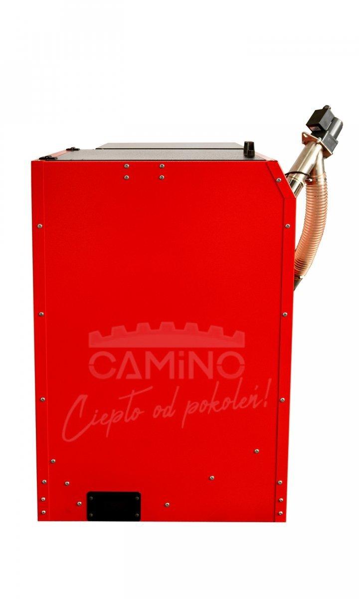 Camino 4 żeliwny kocioł na pellet z podajnikiem o mocy 15 KW ecoMax 860simTOUCH ST4 Seperate
