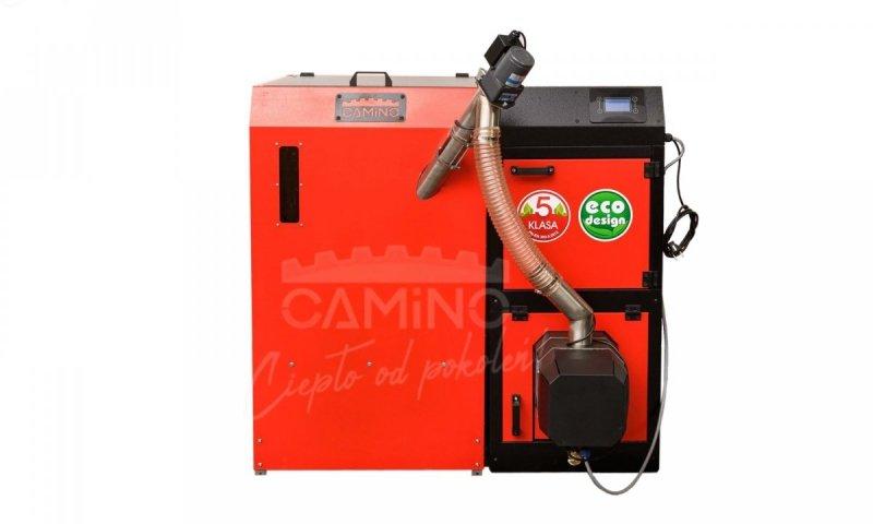 Camino 4 żeliwny kocioł na pellet z podajnikiem o mocy 10 KW ecoMax 920 simTOUCH ST4 Seperate