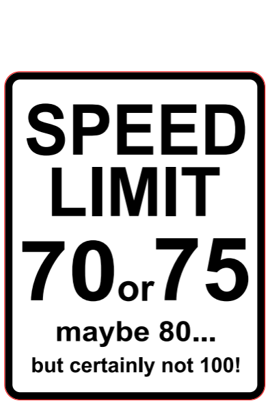 Naklejka Limit Prędkości 70 - mała