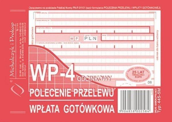 Polecenie przelewu WP-4 445-5M