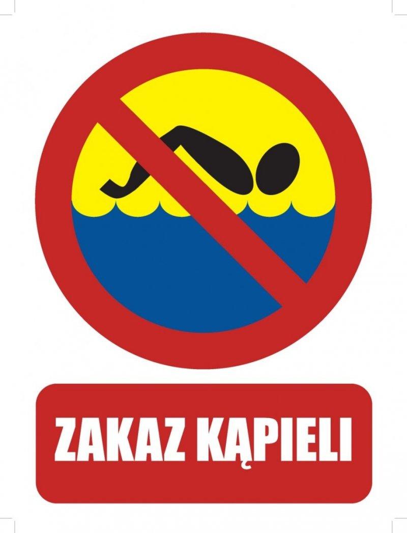 Tablica zakaz kąpieli