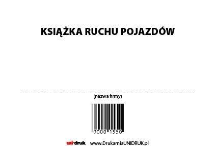 Książka Ruchu Pojazdów A-4 opr. miękka