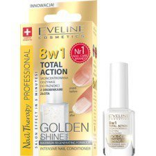EVELINE NAIL THERAPY PROFESSIONAL Odżywka Do Paznokci Golden Shine 8w1 12ml