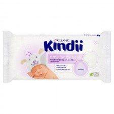 CLEANIC Kindii New Baby Care Chusteczki Do Delikatnej Skóry Noworodków i Niemowląt 60 Sztuk