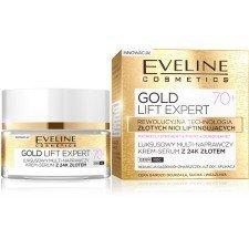 EVELINE Gold Lift Expert Luksusowy Multi-Naprawczy Krem-Serum Z 24K Złotem 70+ 50ml