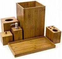 Bambusowy zestaw ORGANIZER łazienkowy LOFT 6 el