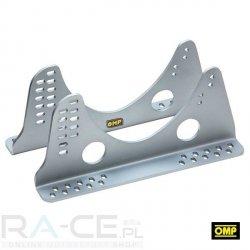 OMP, Mocowanie boczne, aluminiowe 495mm długości, 6mm grubości. Wysokie. Srebrne lub czarne, FIA