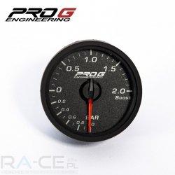 Elektroniczny wskaźnik turbo ProG 52mm, 2 BAR (biały)