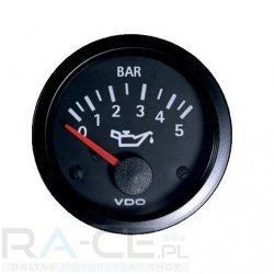 Wskaźnik ciśnienia oleju VDO 52mm 0-5 bar