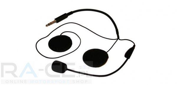 OMP, słuchawki z mikrofonem do kasków otwartych (do centralki JA/848)