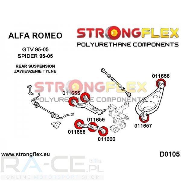 Alfa Romeo GTV, tuleja wahacza tylnego przednia SPORT