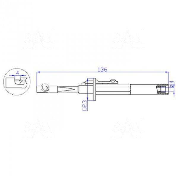 Chwytak z igłą, bezp. gn. 4mm CH163-R 10A CAT III 1000V czerwony