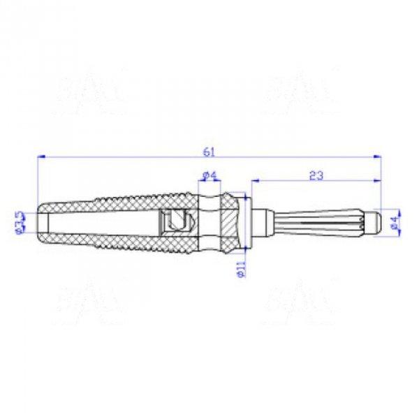 Wtyk banan 4mm WB413-BK 50V=/30V~ 32A czarny