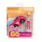 Barbie On The Go Różowy samochód + Lalka